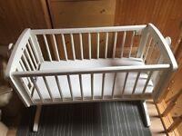 Mothercare Swinging crib and mattress