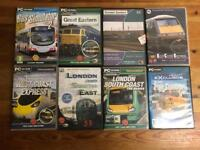 PC CD-ROM BUNDLE OF TRAIN AND BUS SIMULATORS