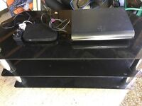 Sky + HD box, Sky router and TV cabinet