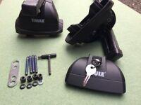 Thule roofbar footpack kit - Lockable Thule Rapid System 753 & Thule XT Kit 3028