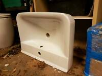 New white ceramic bathroom sink