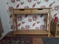 Oak wood side table