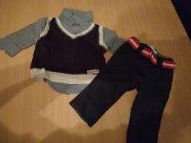 Pumpkin Patch - Pants with Shirt/Waistcoat set - Newborn