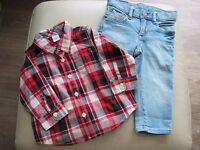 GAP boys jeans & shirt 12-18 months