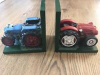 Tractor Book Ends - Heavy!