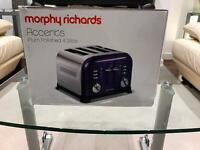 Morphy Richards Accents Plum 4 Slice Toaster