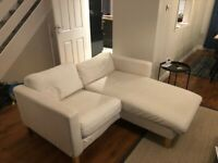 Ikea 2 Seater Sofa with with chaise longue
