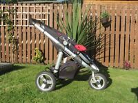 i Candy Apple pushchair and carrycot + maxi cosi car seat + buggy board