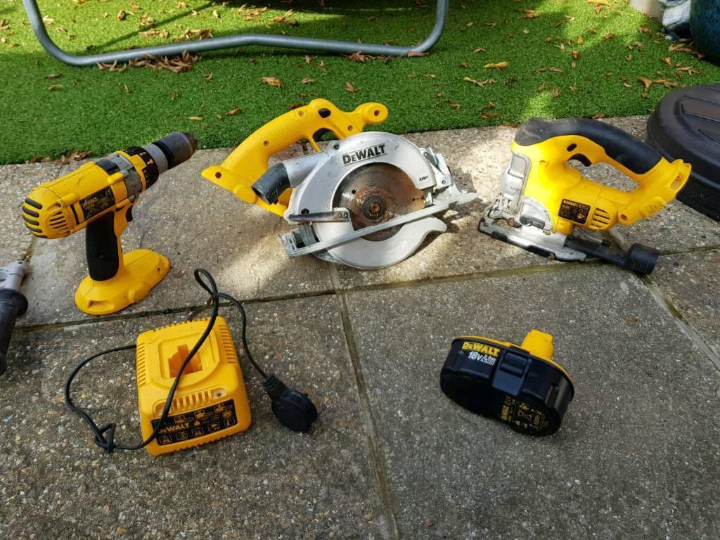Dewalt cordless 18v Circular Saw, Hammer Drill, Jigsaw