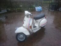Vespa px 125 scooter,runs,rides,project.
