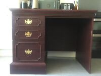 Antique looking Desk cheap brown heavy
