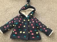 BRAND NEW Baby girl 0-3m thick wool jacket