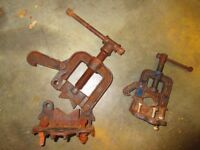 Record Pipe Vices Vice Old Hand Tools Large Small