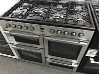 New Graded Flavel 100cm Duel Fuel Range Cooker - Silver