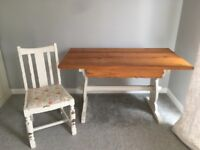 Shabby Chic Dining Table, Chairs & Bench Set