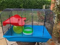 Hamster cage. Ball and wheel