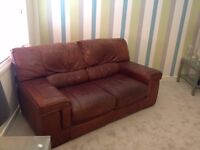 2 seater sofa , brown good condition