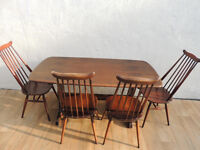 Windsor Ercol dining table with ercol chairs (Delivery)