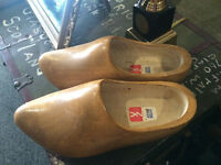 Nice Vintage Wooden Hand Carved Dutch Clogs/Shoes