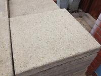 Concrete paving slabs, buff finish