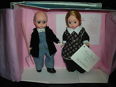 American Farm Couple 8'' Madame Alexander Dolls