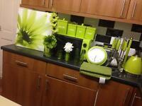 Green colour kitchen set