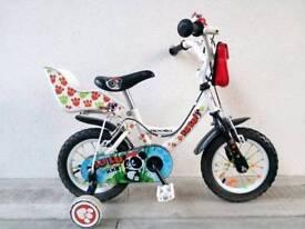 "(2560) 12"" APOLLO Boys Girls Kids Bike Bicycle+STABILISERS Age: 3-4 Height: 90-105 cm"