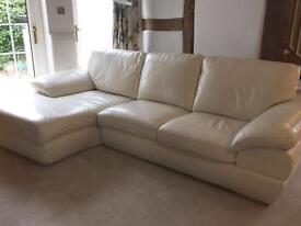 White leather sofa - Great condition
