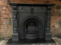 DEL £25 max uk fireplace cast iron arch and fire surround