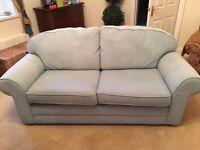 Duck egg blue 2 seater sofa.