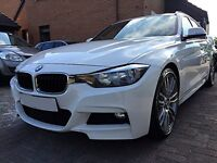 "BMW 3 SERIES 2.0 320d BluePerformance M Sport Touring 5dr (start/stop) Auto - Leather -19"" Alloys"