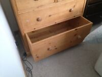 Antique pine Chest of drawers. Solid Pine.
