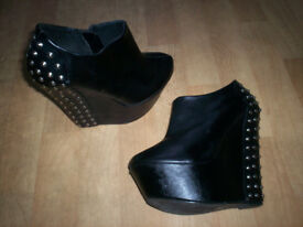 ladies studded wedges