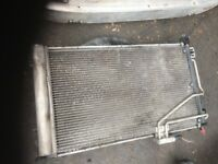53 MERCEDES C180 PETROL WATER AND AIRCON RADIATOR BOTH