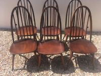 Vintage blue label Ercol chairs