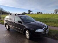 Skoda Octavia 1.9tdi pd black estate. Smart and practical car. MOT until June 2017. Cheap to run