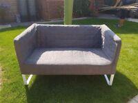 2 seater grey sofa (IKEA) like new