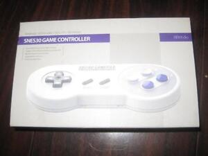 SNES30 Bluetooth Gamepad Controller for Smart Phone / PC / MacBook / iMac. Rechargeable. NEW