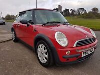 2003 '03' Mini One Bright red 107k S/H Mot June 2017