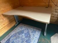 Office work desk large curved front 100 x 140cm