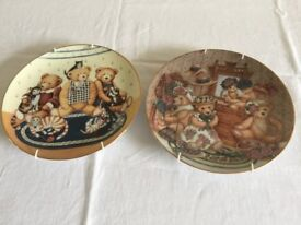 Franklin Mint Teddy Bear Heirloom Plates (2) - numbered limited editions