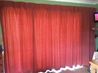 Full length large curtain and matching window blind