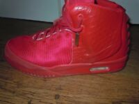 HIGH TOP RED NIKE SNEAKERS/ BASKETBALL SHOES