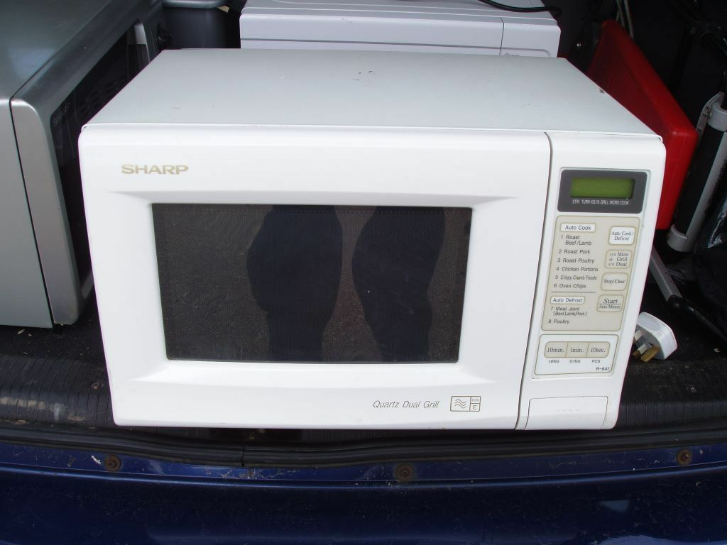 Sharp Quartz Duel Microwave Oven With Grill White Digital