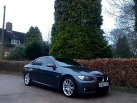 2007 BMW 320d M SPORT GREY COUPE NATIONWIDE DELIVERY WARRANTY & CARD FACILITY AVAILABLE