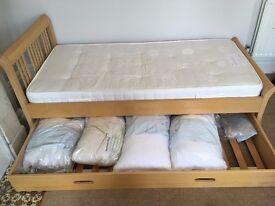 Single storage bed with mattress (John Lewis)