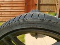 2 Front 19's BMW 320d Genuine Alloys with bridgestone potenza