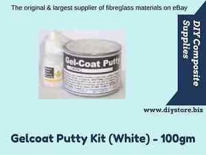 Gelcoat Putty - Fibreglass Repair Kit (White) - 100gm - FREIGHT PER DESCRIPTION