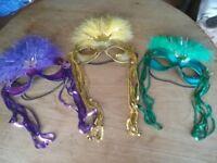 Set of 3 Masquerade Masks