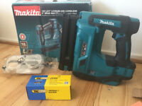 new makita 18v brad nailer dbn500z + 5,000 nails. 15-50mm, 18 ga. dbn500